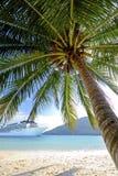 Summer Tropical Island Beach Cruise Ship Concept Royalty Free Stock Photo