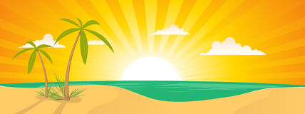 Summer Tropical Island Landscape Royalty Free Stock Image