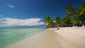 Summer on tropical island Saona, Dominican Republic stock footage