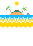 Summer tropical island vacations themed poster Royalty Free Stock Images