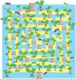 Summer tropical labyrinth vector illustration