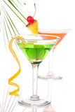 Summer Tropical Martini Cocktails with vodka Royalty Free Stock Photo