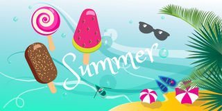 Summer tropical poster Stock Photography