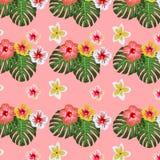 Summer tropical seamless pattern background. vector illustration. eps 10. Oattern design Stock Illustration