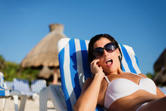 Summer tropical vacation surprise Royalty Free Stock Photos