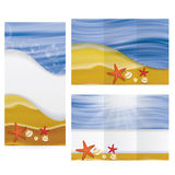 Summer tropical warm beach brochure Royalty Free Stock Photo
