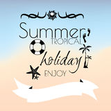 Summer tropicl holiday creative poster Stock Photography