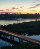 Summer twilight in the city Royalty Free Stock Images