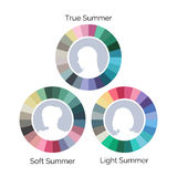 Summer type color pallets Royalty Free Stock Photos