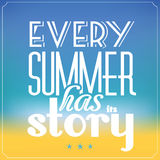 Summer Typographic Abstract Background Royalty Free Stock Images