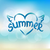 Summer typographic design. Hand drawn lettering Royalty Free Stock Photo