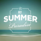 Summer Typographic Design Stock Images