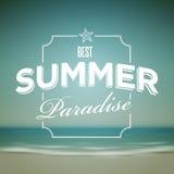 Summer Typographic Design stock illustration