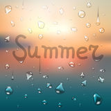 Summer typography background Royalty Free Stock Images