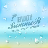 Summer typography background Stock Photos