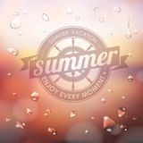 Summer typography background Royalty Free Stock Photography