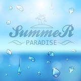 Summer typography background Stock Image