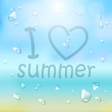 Summer typography background Royalty Free Stock Photo