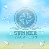 Summer typography background Stock Images