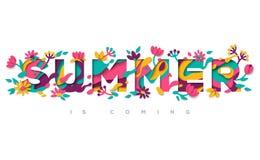 Summer typography design Stock Photos