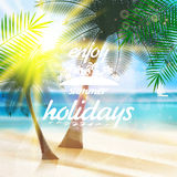 Summer typography holidays template. Stock Photography