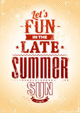 Summer typography Stock Photos