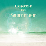 Summer typography poster Royalty Free Stock Image