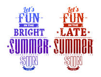 Summer typography Royalty Free Stock Photos