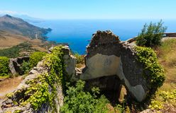 Summer Tyrrhenian sea coast, Maratea, Italy Stock Image