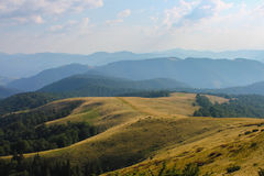 Summer, ukraine, mountain, sunset, carpathian , mountain range ,landscapes ,tourism , Royalty Free Stock Photos