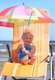 Summer umbrella stock photo