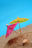 Summer umbrellas Stock Photography