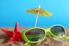 Summer umbrellas Stock Image