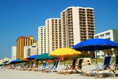 Summer umbrellas Stock Images