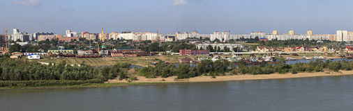 Summer urban landscape. Omsk. Russia. Stock Photos