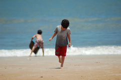 Summer vacation. Boys enjoying vacation Stock Image