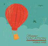 Summer vacation. Over sky background vector illustration Stock Images