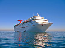 Summer Vacation. Cruise ship on the water royalty free stock photos