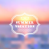 Summer vacation abstract background. Vector Summer vacation abstract background Royalty Free Stock Photos