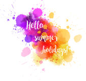 Summer vacation abstract background Royalty Free Stock Photography