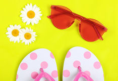 Summer vacation accessories Royalty Free Stock Photo