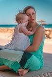 Summer vacation with baby Stock Photography