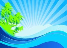 Summer vacation background Royalty Free Stock Image