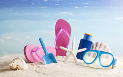 Summer vacation background Royalty Free Stock Photography