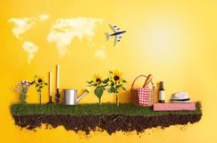 Summer vacation background Royalty Free Stock Images
