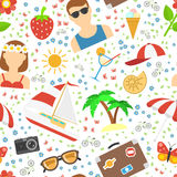 Summer and vacation background Royalty Free Stock Image
