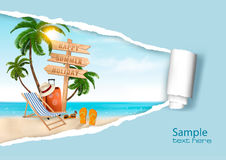 Summer vacation background. Royalty Free Stock Photo