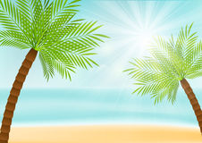 Summer vacation background Stock Images