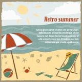 Summer vacation background retro Stock Image