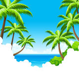 Summer Vacation Background Stock Photo